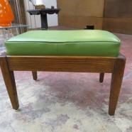 Vintage Mid Century Modern Oak Bench – $95