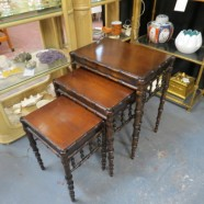 Vintage Antique Faux Bamboo Set of Nesting Tables – $159