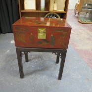 Vintage Drexel Chinese Style Lidded Box End Table – $129