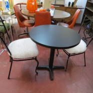 Vintage Mid Century Modern Cafe Table with 2 Chairs – $180 for the set