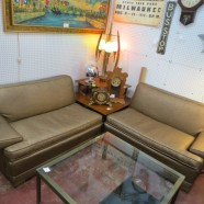 Vintage Mid Century Modern 2 Piece Sectional Sofa – $275