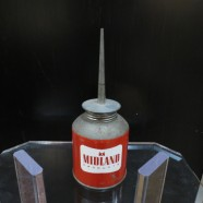 Vintage Midland Metal Oil Can With Pointed Spout Petroleum Collectible – $45