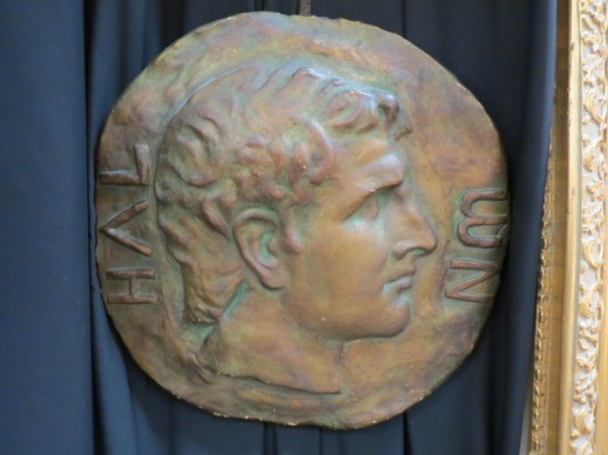 Vintage Antique Neoclassical Round Plaster Wall Plaque – $69