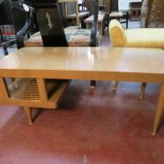 Vintage Mid Century Modern Walnut Coffee Table – $125