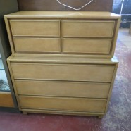 Vintage Mid Century Modern Bleached Mahogany Kroeler Chest of Drawers – $285