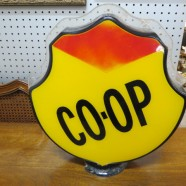 Vintage Co-op Gasoline Globe Top Petroleum Collectible – $195