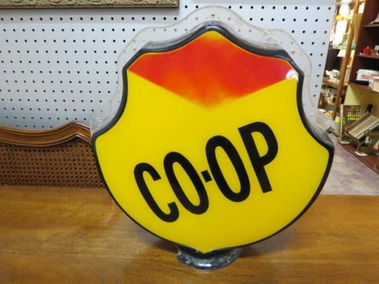 Vintage Co-op Gasoline Globe Top Petroleum Collectible – $195