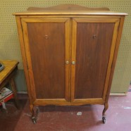 Vintage Antique Cherry 2 Door Armoire – $495