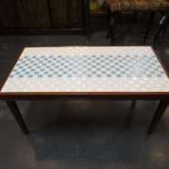 Vintage Mid Century Modern Tile Top Walnut Coffee Table c. 1960 – $109