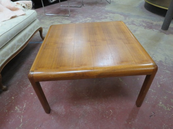 Vintage Mid Century Danish Modern Square Teak Coffee Table – $165