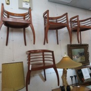 Vintage Mid Century Modern Set of 4 Bentwood Dining Chairs – $495 for the set