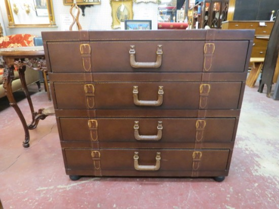 Vintage Suitcase Style 4 Drawer Chest – $225
