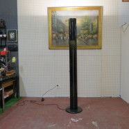 Vintage Mid Century Modern Black Artimede, Italy Uplight Floor Lamp – $395
