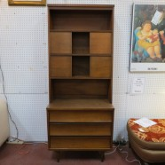 Vintage Mid Century Modern Teak 2pc Hutch – $295