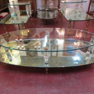 Vintage Hollywood Glam 2 Tier Mirrored Coffee Table – $325