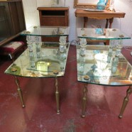Vintage Hollywood Glam 2 Tier Mirrored Side Tables – $430 for the pair