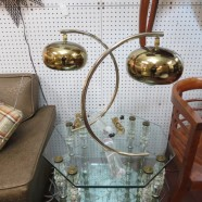 Vintage Mid Century Modern Pair of Brass and Lucite Lamps – $500 for the  pair