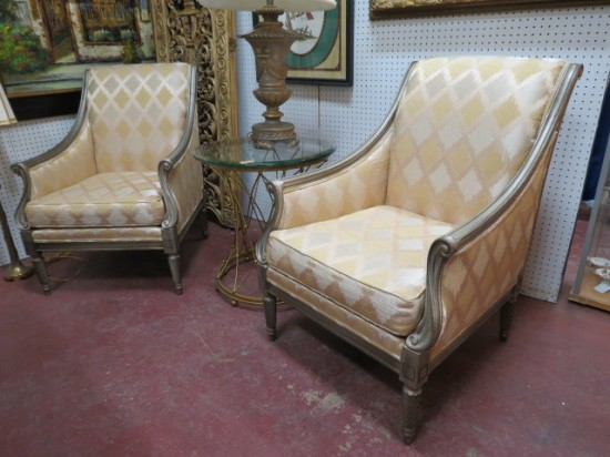 Vintage Pair of Drexel Heritage Glam Lounge Chairs – $350 each