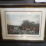 Vintage Antique English Hunting Engraving – $95