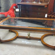 Widdicomb Satin Wood and Glass Coffee Table – $950