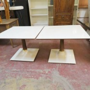 Vintage Mid Century Modern Pair of Square Side Tables/Coffee Tables – $60 each