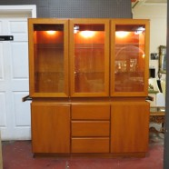 Vintage Mid Century Danish Teak China Cabinet/Display Cabinet – $595